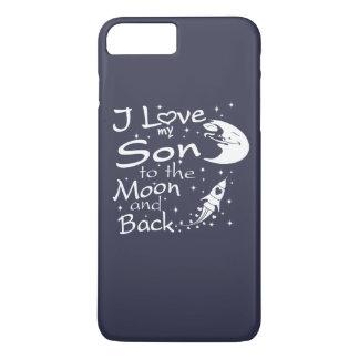 私は月および背部に私の息子を愛します iPhone 8 PLUS/7 PLUSケース