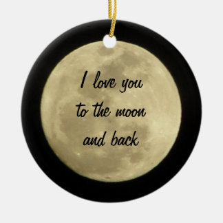 私は月および背部オーナメントに愛します セラミックオーナメント