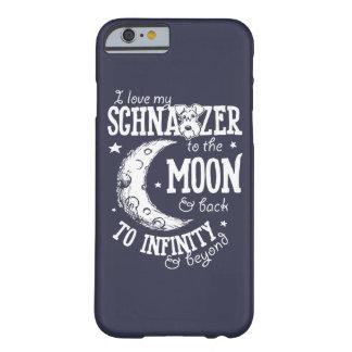 私は月および背部場合に私のシュナウツァーを愛します BARELY THERE iPhone 6 ケース