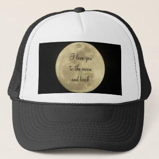私は月および背部帽子に愛します キャップ