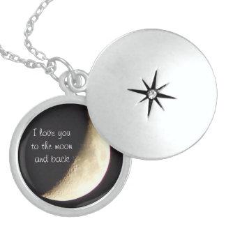 私は月におよび背部ネックレスまたはロケット愛します ロケットネックレス
