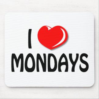 私は月曜日のマウスパッドを愛します マウスパッド