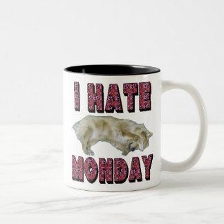 私は月曜日のマグを憎みます ツートーンマグカップ