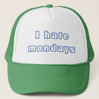私は月曜日を憎みます キャップ