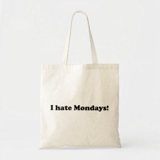 私は月曜日を憎みます トートバッグ