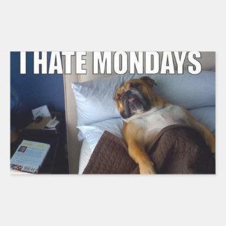 私は月曜日を憎みます! 長方形シール
