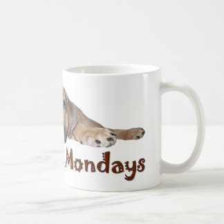私は月曜日Bullmastiffの子犬のマグをしません コーヒーマグカップ