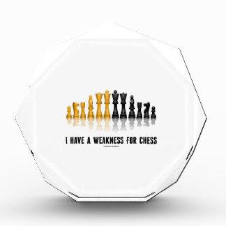 私は有しますチェス(反射チェスのこまセット)のための弱さを 表彰盾