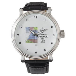 私は有します生命(地質学のユーモア)の層にされた展望を 腕時計
