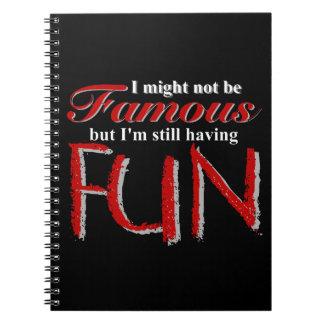 """""""私は有名ではない""""ノートではないです ノートブック"""