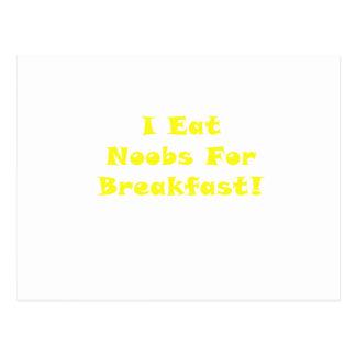 私は朝食のためのNoobsを食べます ポストカード