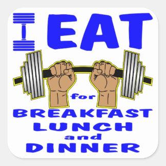 私は朝食、昼食および夕食のためのバーベルを食べます スクエアシール