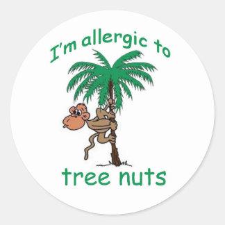 私は木のナットにアレルギーです ラウンドシール