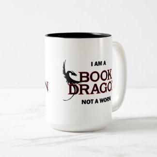 私は本のドラゴンみみずではなくです ツートーンマグカップ
