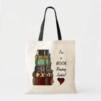 私は本の読書麻薬常習者です トートバッグ