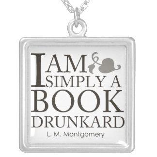 私は本の飲んだくれのマンガ本の恋人の引用文単にです シルバープレートネックレス