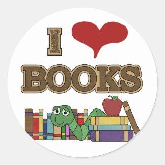 私は本を愛します ラウンドシール