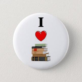 私は本を愛します 5.7CM 丸型バッジ