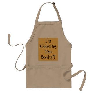 私は本を調理しています! おもしろいな財政のしゃれ スタンダードエプロン