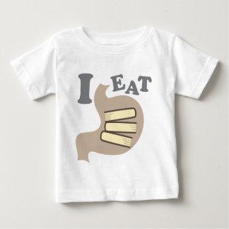 私は本を食べます ベビーTシャツ