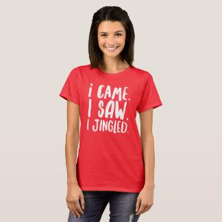 私は来ました。 私は見ました。 私はちりんちりんと鳴りました Tシャツ