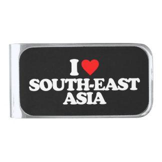 私は東南アジアを愛します シルバー マネークリップ