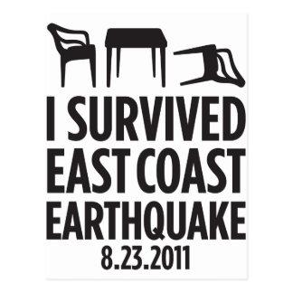 私は東海岸の地震を生き延びました ポストカード