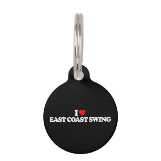 私は東海岸の振動を愛します ペット ネームタグ