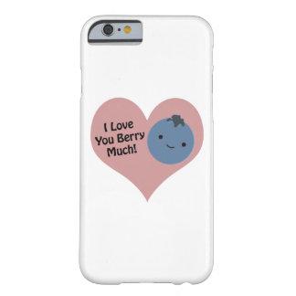 私は果実多くのブルーベリー愛します BARELY THERE iPhone 6 ケース