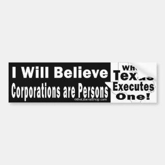私は株式会社をです人バンパーBW信じます バンパーステッカー