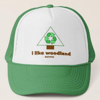 私は森林リサイクルの木の帽子を好みます キャップ