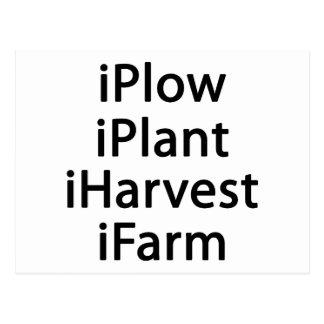 私は植物の収穫の農場を耕します ポストカード