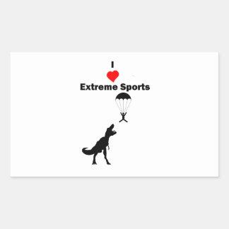 私は極度なスポーツを愛します 長方形シール