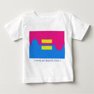 私は権利を有しますも! 同輩はロゴを訂正します ベビーTシャツ