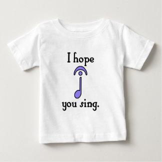 私は歌うことを望みます ベビーTシャツ