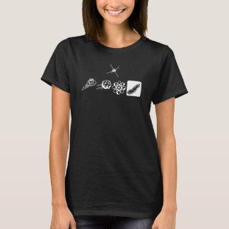 (私は歩きます)女性のHanes ComfortSoft®のTシャツ Tシャツ