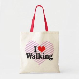 私は歩くことを愛します トートバッグ
