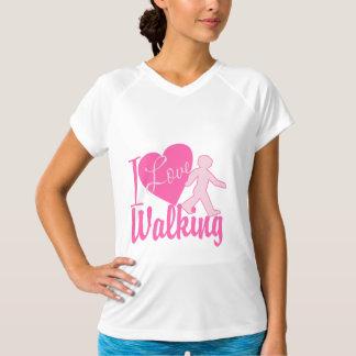 私は歩くことを愛します Tシャツ