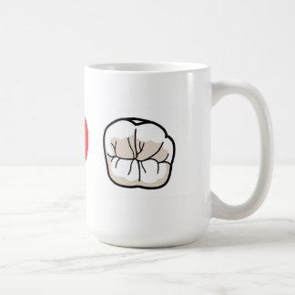 私は歯のコーヒー・マグを愛します コーヒーマグカップ
