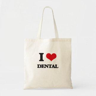 私は歯科を愛します トートバッグ