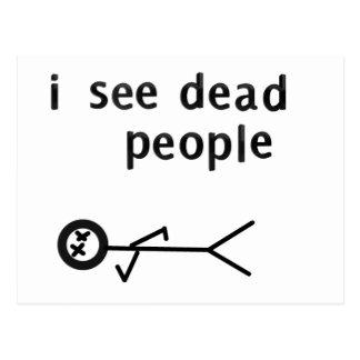 私は死んだ人々の郵便はがきを見ます ポストカード