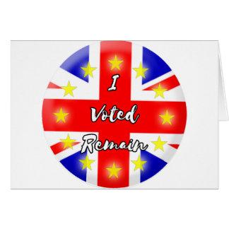 私は残ります歴史に投票しました カード