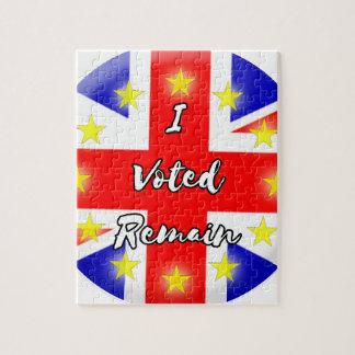 私は残ります歴史に投票しました ジグソーパズル
