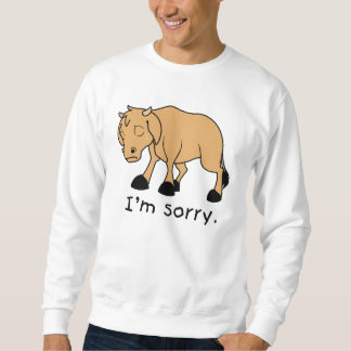 私は残念なブラウンの叫ぶ悲しい泣く子牛のワイシャツのポロです スウェットシャツ