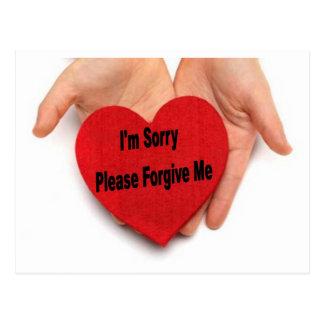 私は残念許します私にバレンタイン手をです ポストカード