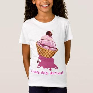 私は毎日の女の子のTシャツをすくいます Tシャツ