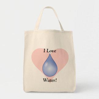 私は水を愛します! トートバッグ