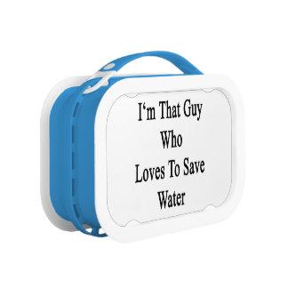 私は水を救うことを愛するその人です ランチボックス