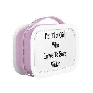 私は水を救うことを愛するその女の子です ランチボックス