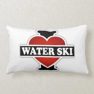 私は水スキーを愛します ランバークッション
